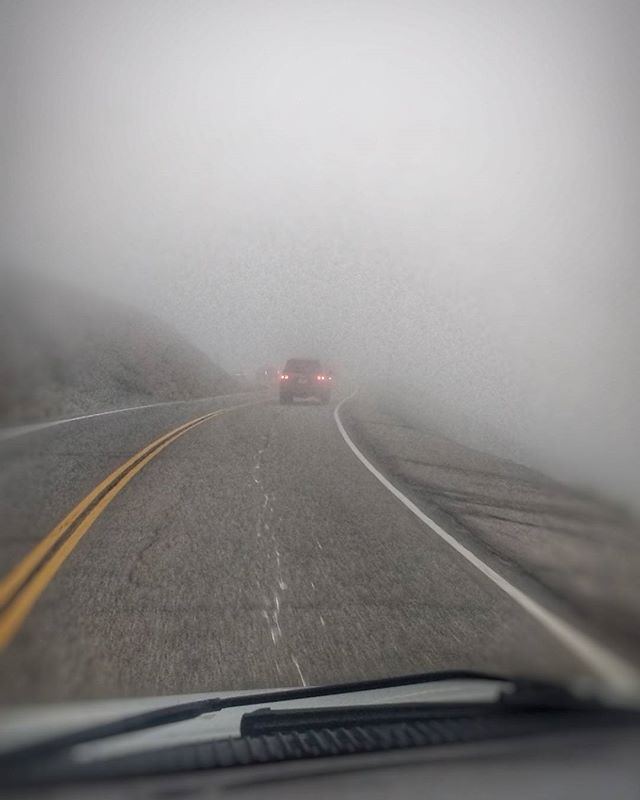 We're on our way to Reno to play the Artown Festival! We had to take a short detour to the end of the world first.  #artownreno #reno #gipsymoon #gipsytour #fog #endoftheworld #eisenhowertunnelwasclosed