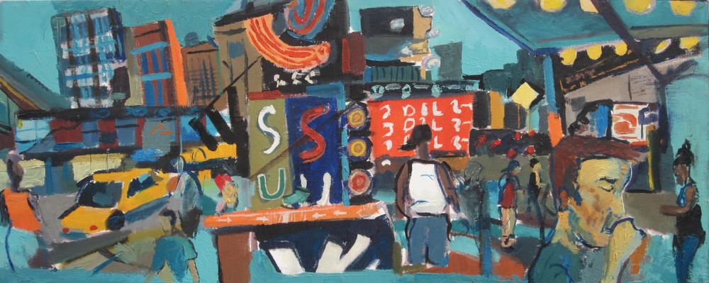 "2005. Oil on Canvas. 12""x30"""