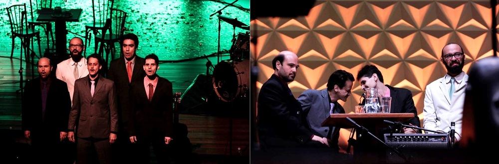 Os compositores Fernando Vilela, Pedro Moraes, Renato Frazão, Thiago Thiago de Mello, Thiago Amud (Fotos:Janine Moraes - Minc)