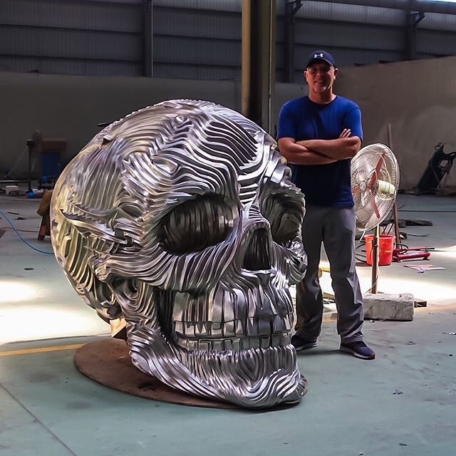 There's a saying in our industry that metal working is an art.. but the incredibly talented Mr. Gil Bruvel has literally turned metal into art! REPOST: Almost finished with the polishing of my monumental skull The Descent #stainlesssteel #sculpture #flow #meditation #art #skull 📷: Gil Bruvel @gilbruvel #metal #metalart #metalhead #metallic #metalwork #metalsmith