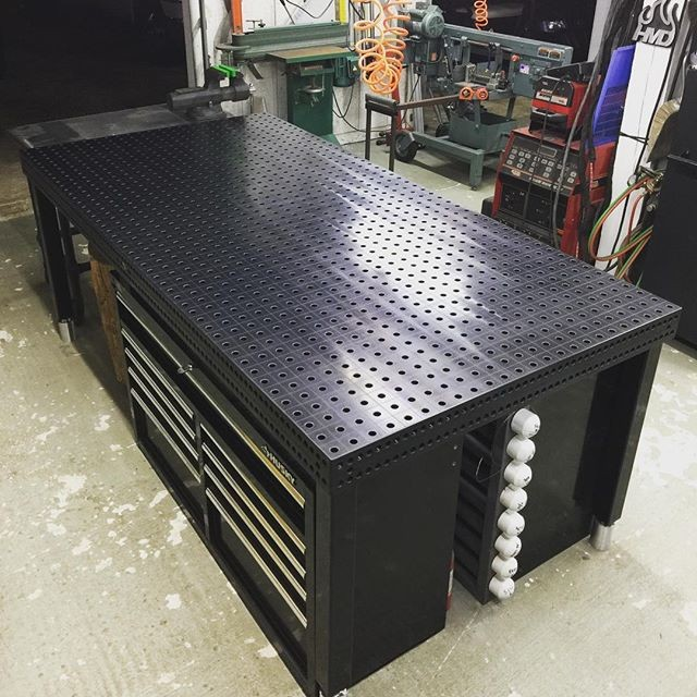 REPOST: We are more than proud and honored to have welcomed you to the Quantum Machinery Group family, Mark!! And goodness, what a clean set-up you have there!! . Our World-Famous Welding Tables are undeniably the Strongest, Most Trusted Welding Tables in the entire industry!! Interested in getting your very own welding table set-up? Visit our online store now - www.WeldingTablesandFixtures.com , give our office a call at (909)476-8007, or send our welding table and fixtures division an email: sales@weldingtablesandfixtures.com . . Wow....come a long way considering my first welding table was a wood bench with a sheet of 16g stainless on top. Thanks @quantum_machinery for the excellent service and fast shipping! #quantummachinery #quantumnation #welding #weld #welders #trusted #strong #metalwork #metal #steel #welder #siegmund  #realdeal #weldingtable #siegmundwelding 📷: @hot__metal__designs