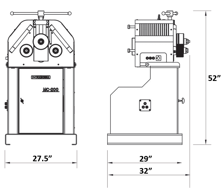 MC200 Quantum Machinery Nargesa Roll Bender with USA Dimensions.png