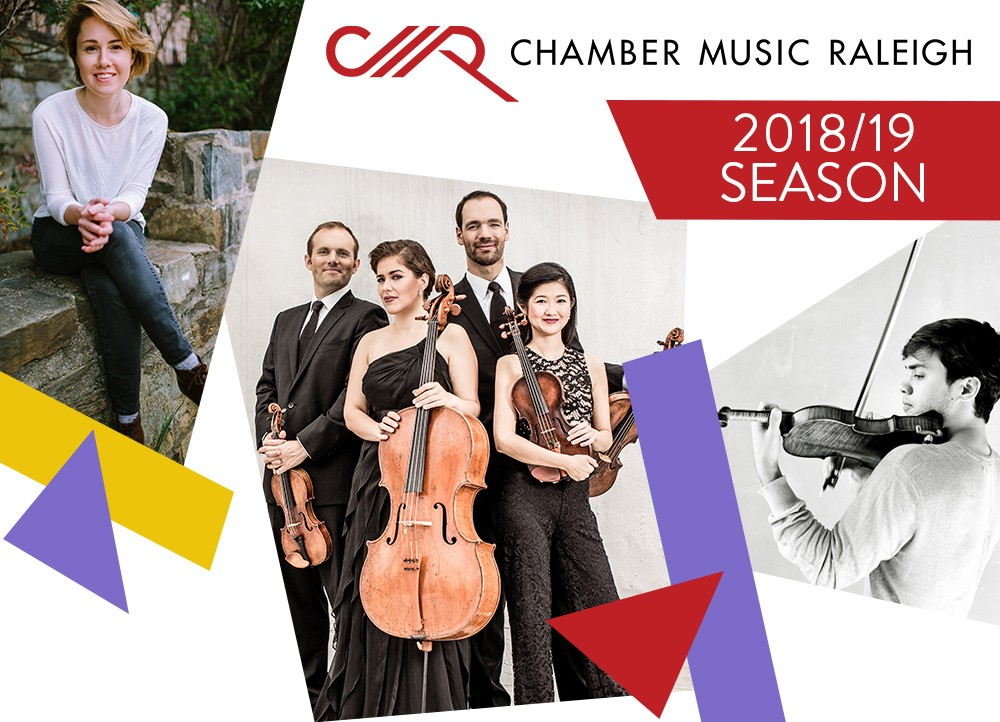 Visiting Artists Series - All Visiting Artist Series concerts take place at 2:00pm at NCMAClick on each group to learn more....Caroline Shaw Jasper String QuartetSUNDAY, OCTOBER 14, 2018The Borromeo String QuartetSUNDAY, NOVEMBER 18, 2018MélangeSUNDAY, FEBRUARY 3, 2019Benjamin Beilman, violinAndrew Tyson, pianoSUNDAY, APRIL 7, 2019