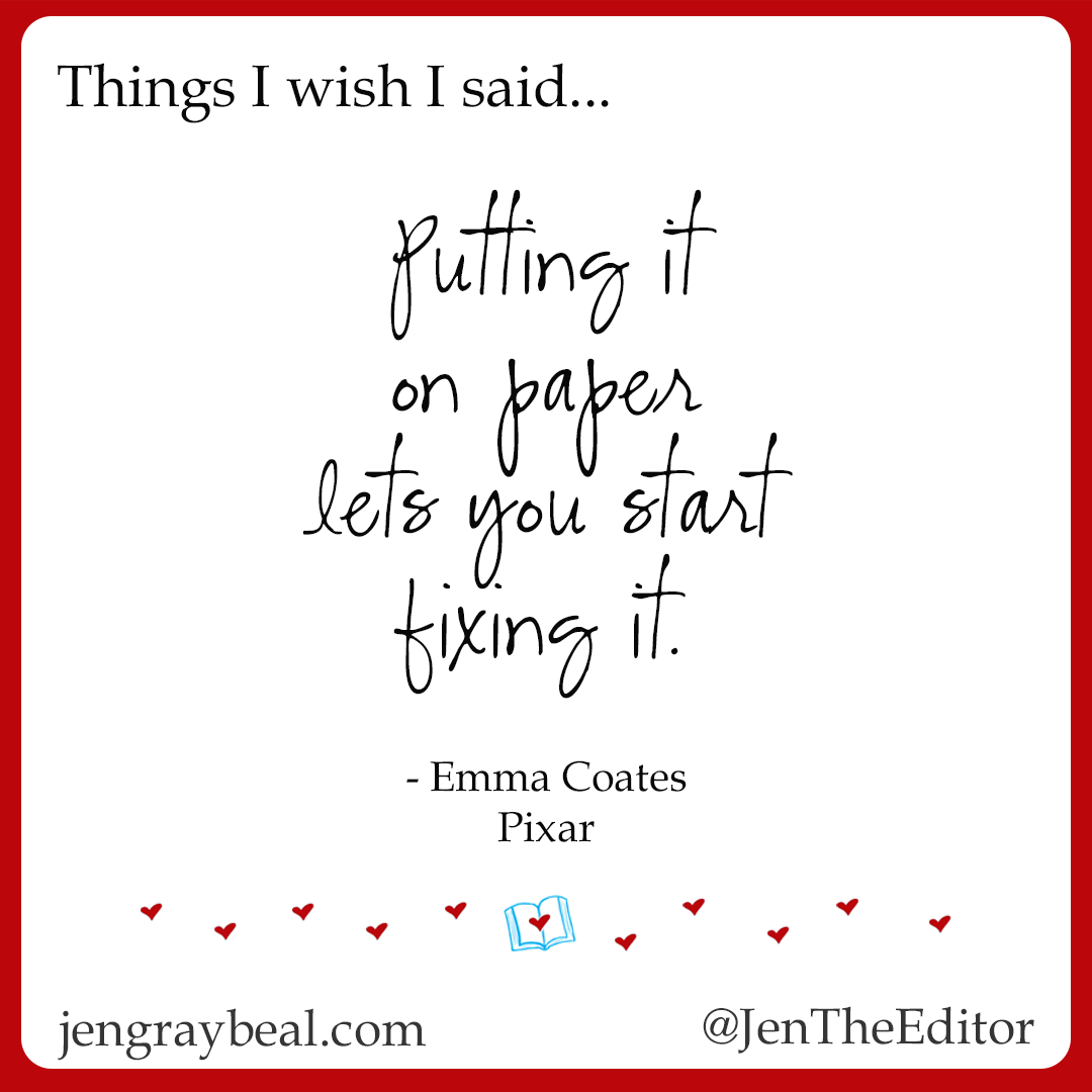 You have to start somewhere — Jen Graybeal Editing Services