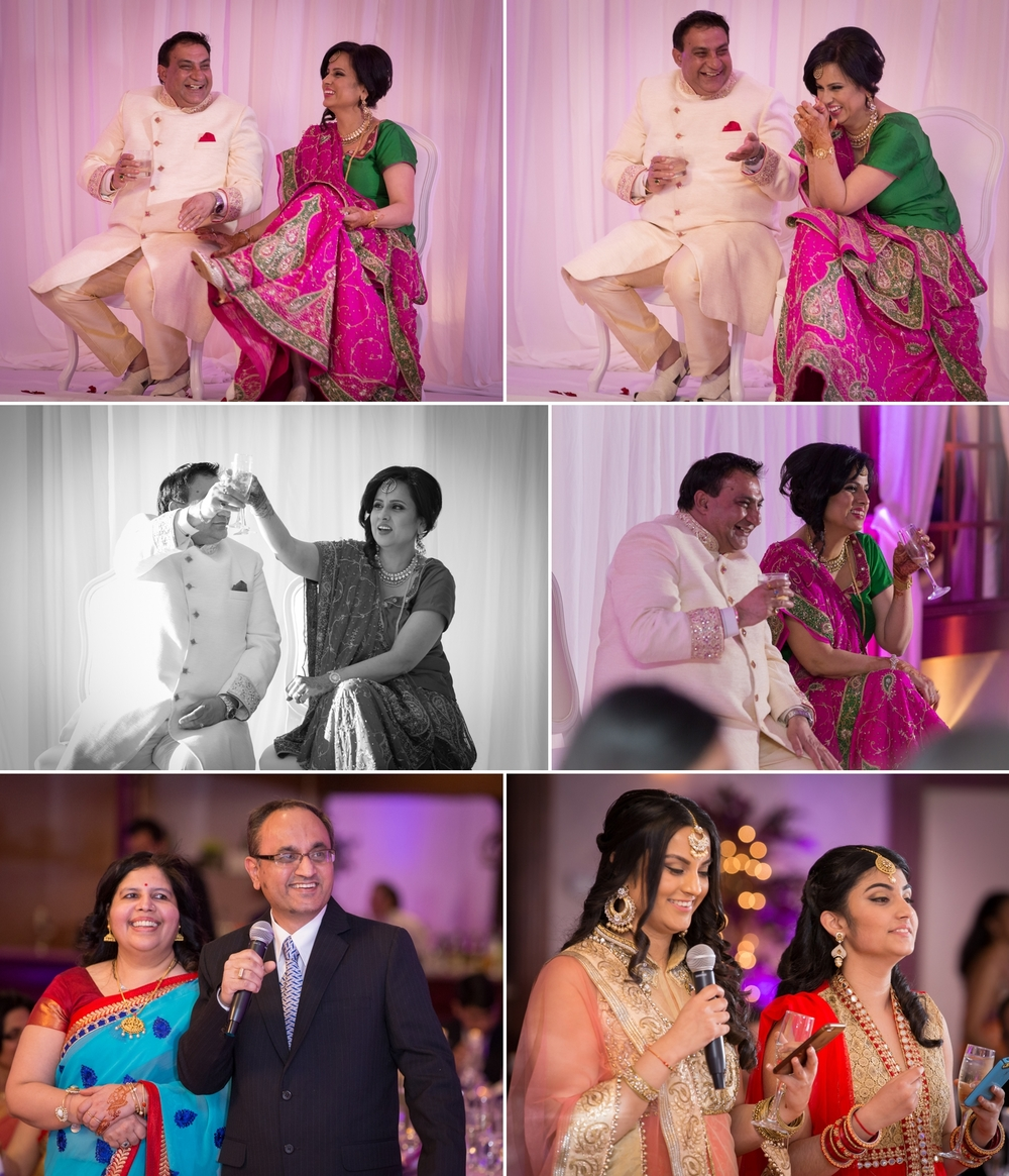 Some more speeches by family members and the couple's reactions.
