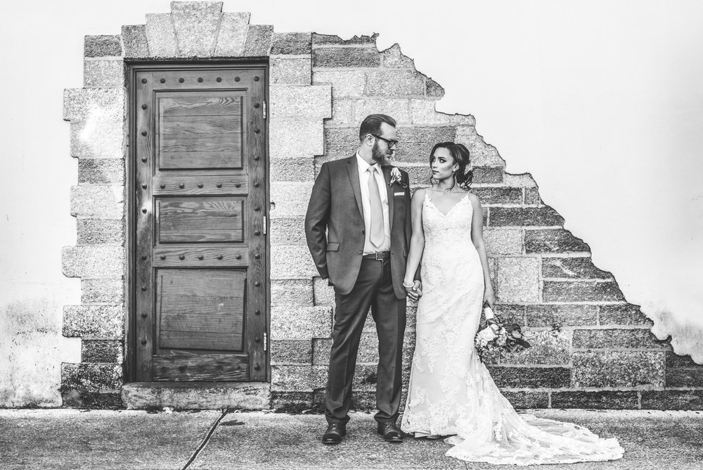 Morgan + Patrick   Those narrow stone streets, historical buildings, beautiful greenery, and random door in wall...         Their Wedding >