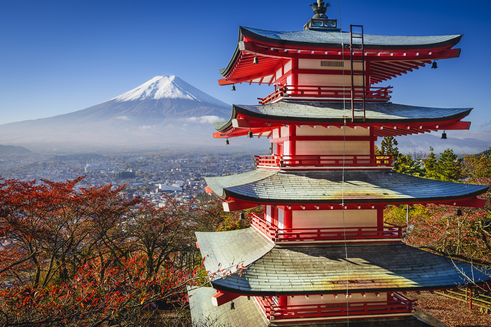 Mountain Fuji and Pagoda