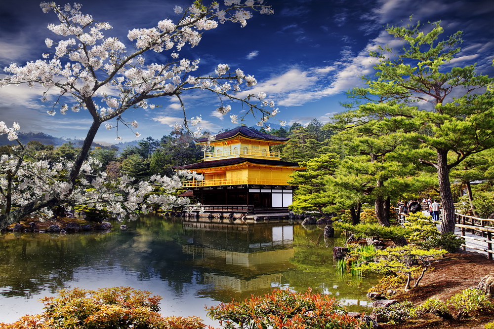 Gold Plated Temple Japan