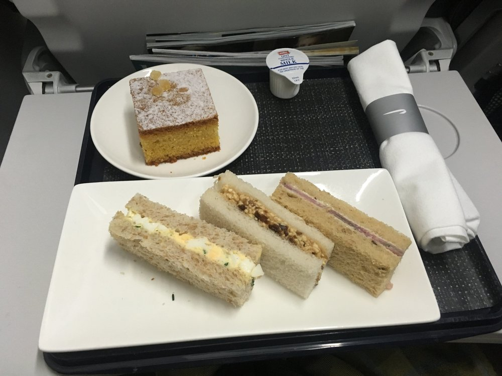 """What British Airways refers to as a """"meal"""" in Club Europe."""