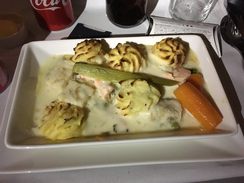 BA Club World Main Course (undertermined meat/fish)