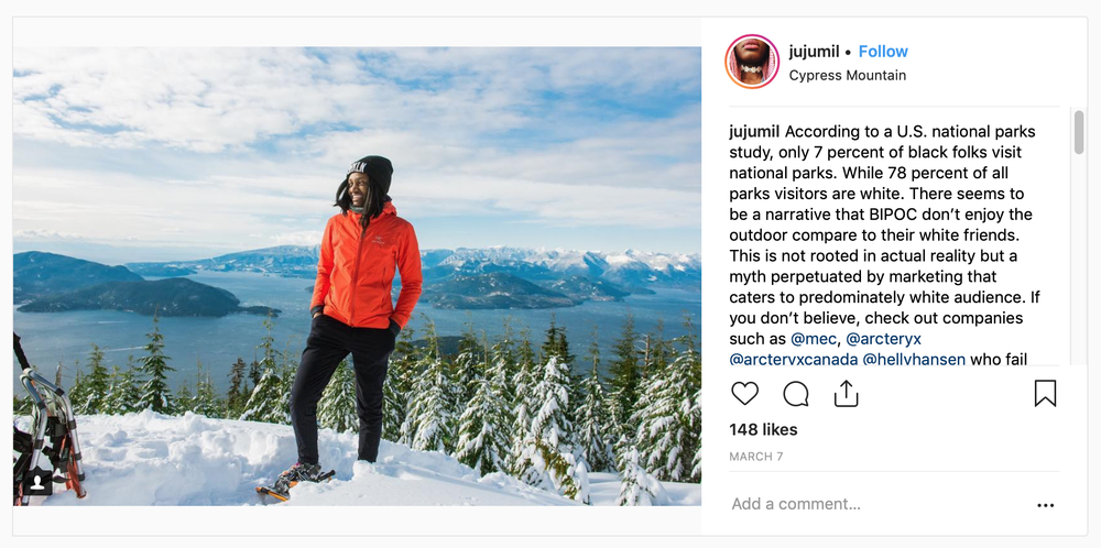 Judith Kasiama is the professional victim who claims that all research and studies are wrong and the outdoors are a colored-people thing…