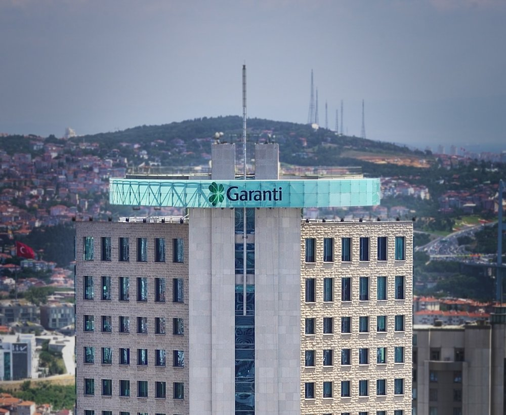 Garanti Bank headquarters in Istanbul, Turkey