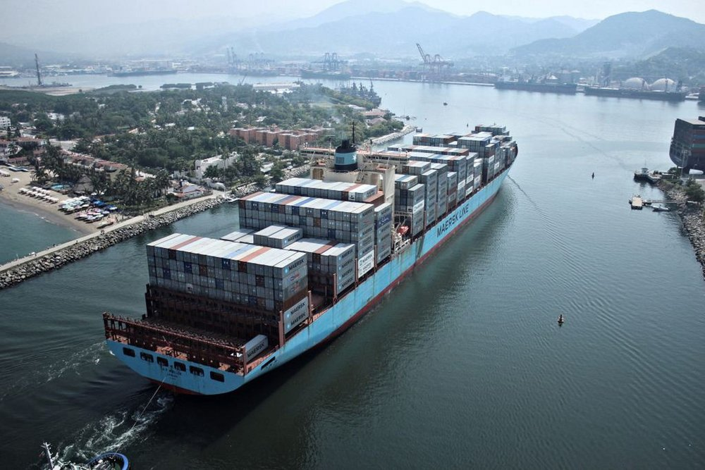 Ninety per cent of the world's cargo is transported by ships. Image:  Maersk ,  CC BY-NC-ND 2.0