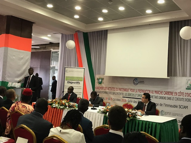 Launch of the PMR/CPLC project to support Côte d'Ivoire in the preparation of a carbon tax in presence of Senior Officials.