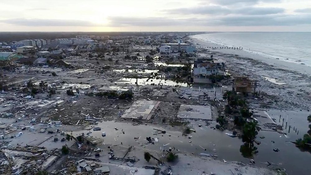 The aftermath of Hurricane Michael. Originally posted in  Quartz.