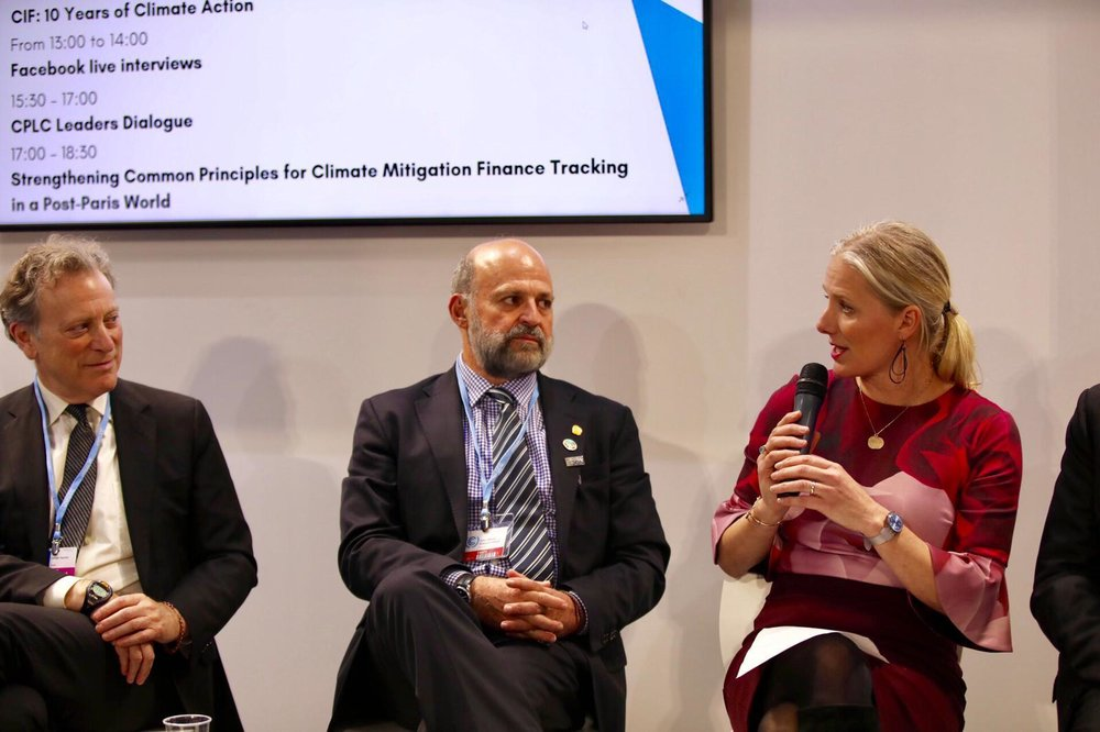 CPLC HLA Co-Chair and Minister of Environment and Climate Change for Canada, Catherine Mckenna speaks at the CPLC Leadership Dialogue on Carbon Pricing Revenues at COP 24.