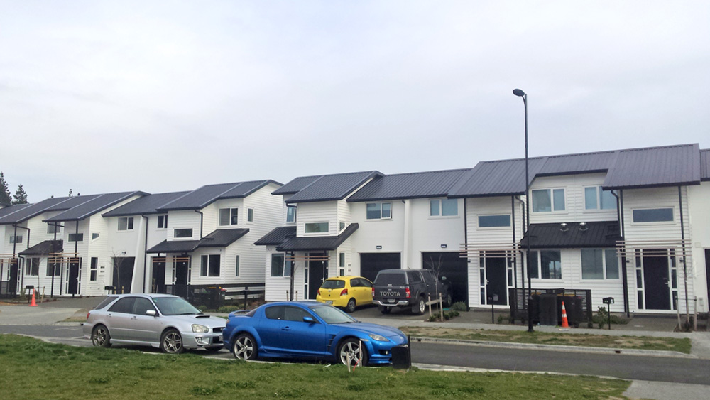Townhouses nearing completion