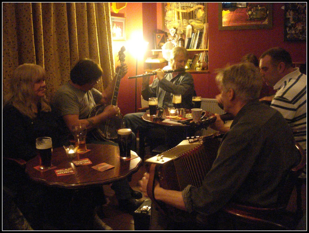Trad night at Clancy's Bar.