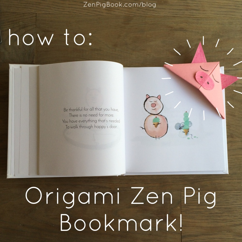 How to make Zen Pig Origami Zen Pig Bookmark Arts and Crafts