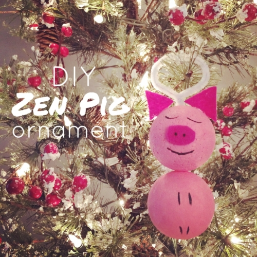 zen pig christmas kid activity