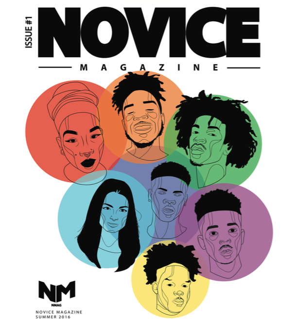 Cover of Novice Magazine summer issue 2016.
