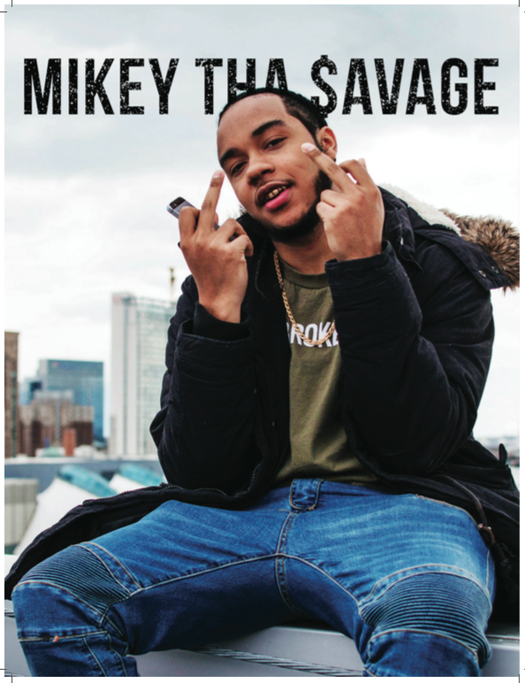 Mikey Tha Savage, 21 year-old rapper from Baltimore, MD. Photo by Cellini Kim.