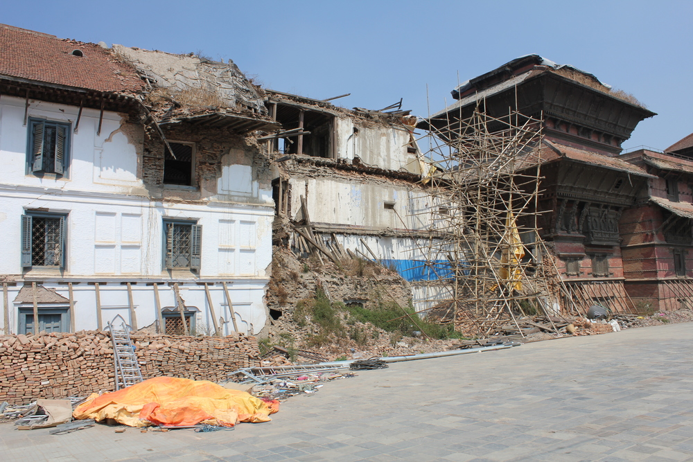 The damaged Presidential Palace in Durbar Square, Khatmandu as a result of the devastationEarthquake on April 25th 2015.