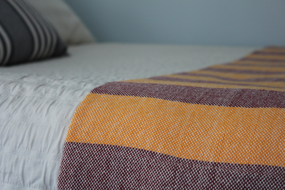 Our Bella Blanket in Virginia Tech Hokie colors