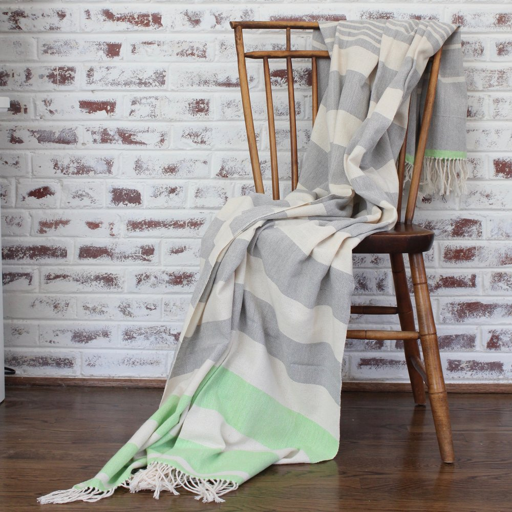 Living Threads Co. Handwoven Cotton BEV Blanket