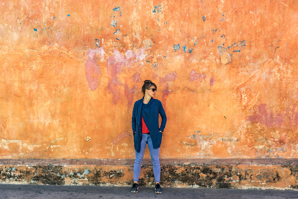 A walk around town provides inspiration for color and design. Antigua, Guatemala