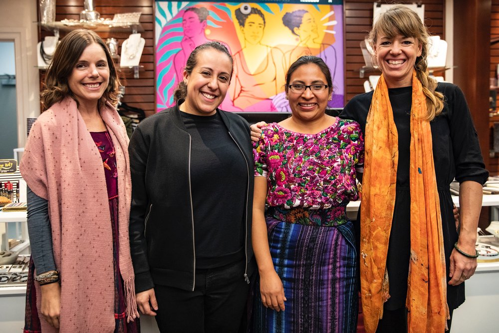 Amanda Flayer, Ana Mesia, and Amanda Zehner at The National Museum of Women in the Arts.