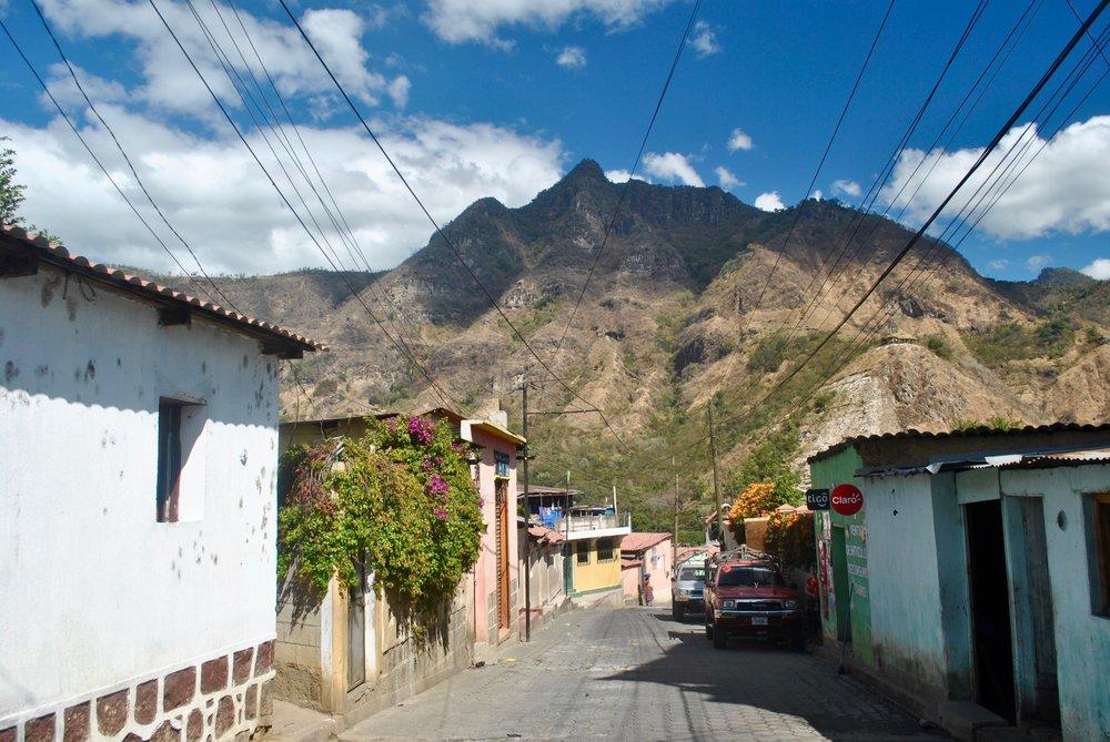 The streets of San Juan, Guatemala.