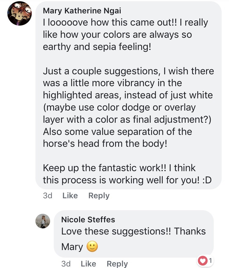 It's always great - to get good critiques by people in your field of work!