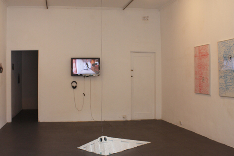 Brad Lay, SQUID > I, installation view at FELTspace, 2013