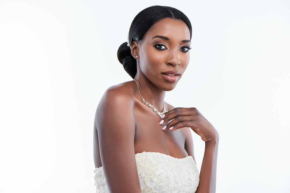 black bride-wedding makeup artist in Chicago