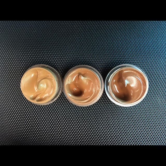 #blackopalbeauty Even True Flawless Liquid Foundation. One of my favorite foundations right now! Shades left to right: Truly Topaz, Nutmeg, and Beautiful Bronze. #blackgirlmagic