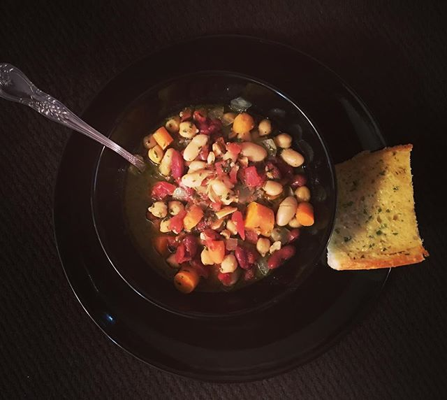 ...prayed about cooking better meals for my family. I felt led to start introducing one new, healthier meal into my cooking schedule each month. For August, my new meal is Three-Bean Chili With Spring Pesto. This one-pot meal took thirty minutes and the recipe isn't too complicated. I'm pretty happy with this new addition. #healthyfood #healthylifestyle
