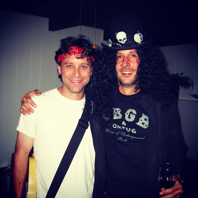 Blast from the past Dave and I Halloween 2010? @slash @springstein #rawk