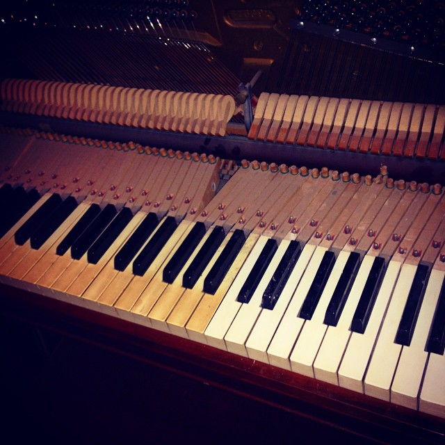 "Restoring Grandma Allison's old piano so we can bring the music back at the home ""studio""!"