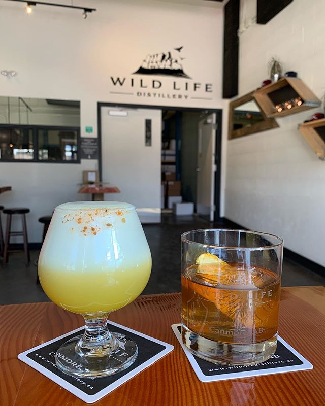 Cheers to the weekend! @wldspirits #yumm #salon83 #canmorehairsalon #weekend #ginsour #canmore #wildlifedistillery