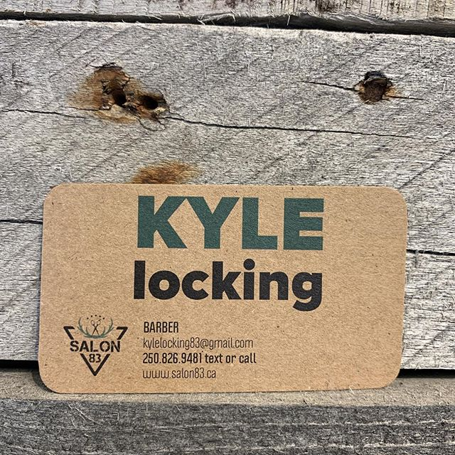 We're very excited to welcome Kyle @barber_83  our first barber at Salon 83! Text or call him at 250.826.9481 or email him at kylelocking83@gmail.com  #canmorebarber #salon83 #canmore #goodhair #barber #canmorehairsalon #welcometothecrew
