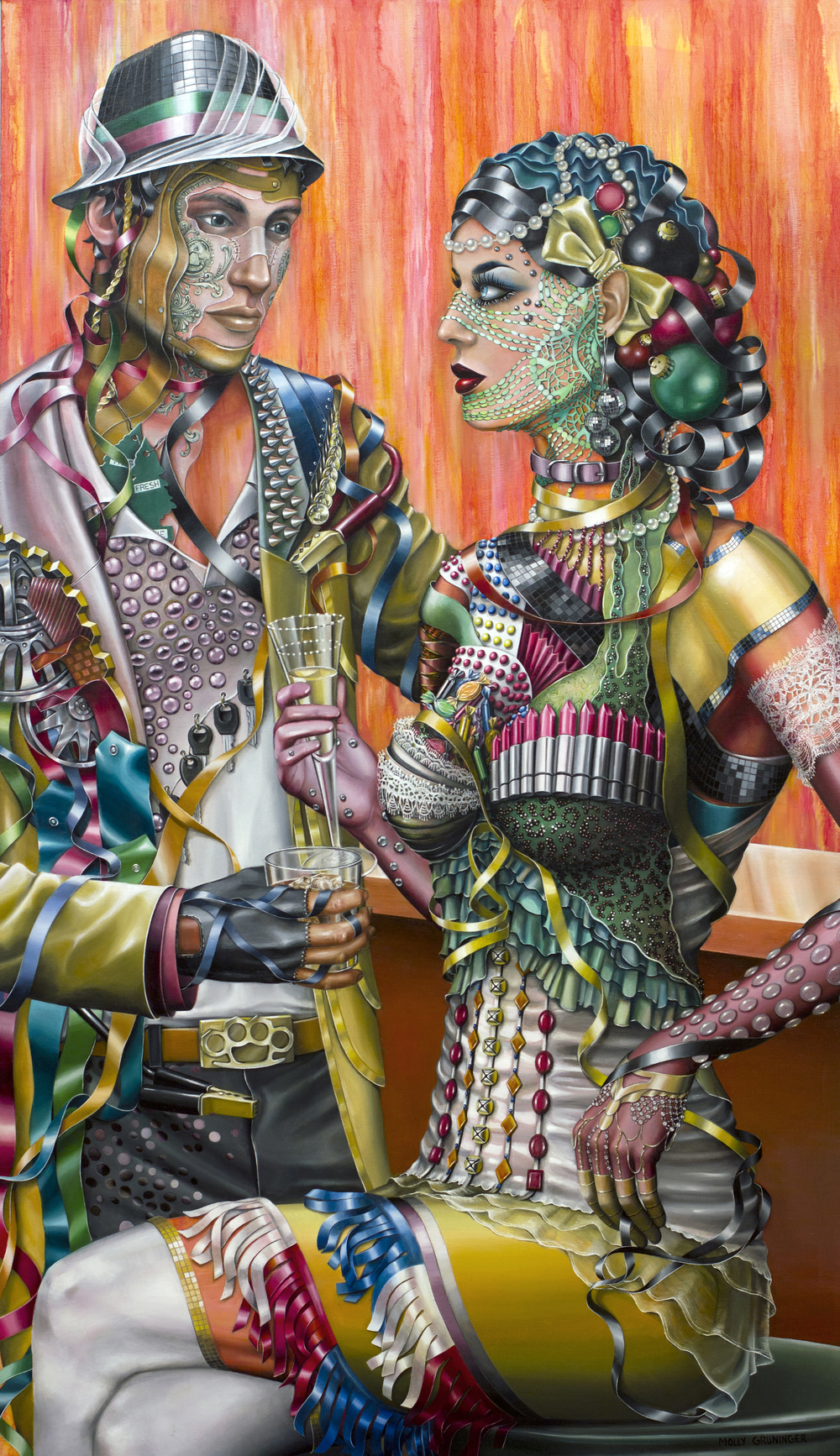 "Masquerade.  Oil on Canvas, 31""x 54"""