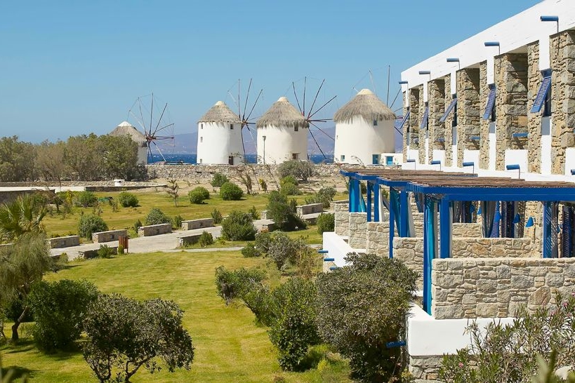 GREECE-Mykonos Theoxenia-exterior and windmills.jpg
