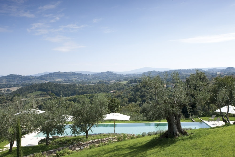 ITALY-Tuscany-Poggio Piglia-View from Building to Pool and valley.jpg