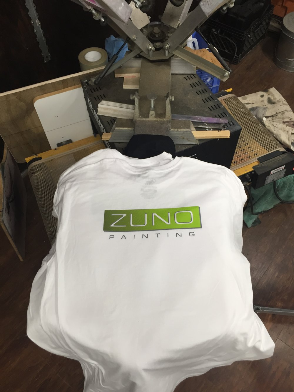 Zuno Painting T-shirts done and done,