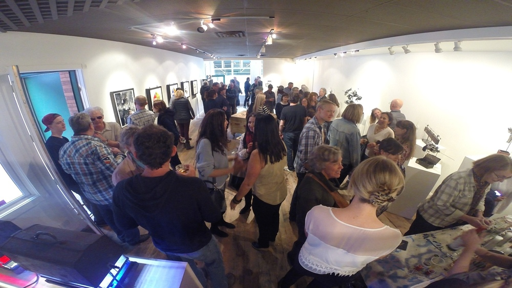Mechanical Love Stories Opening night at The Art Base