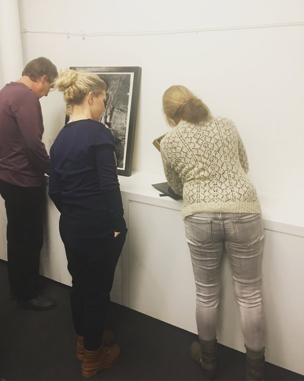 My work being critiqued by Curators and artist