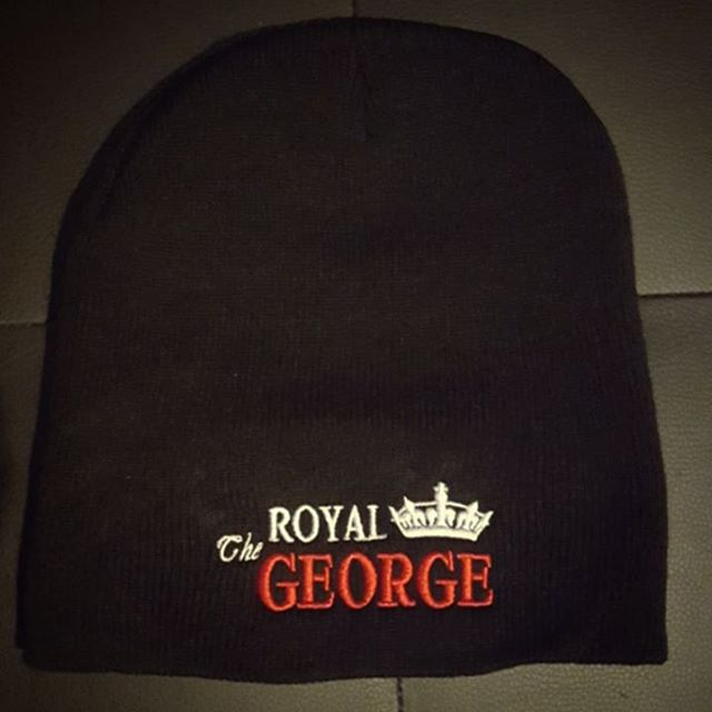 AVAILABLE NOW AT THE BAR!! Get your new Royal George toque just in case winter ever does decide to show up. ❄❄❄ #TheRGLife #RoyalGeorge #merch #winter #keepwarm