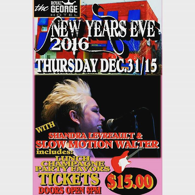 @theroyalgeorge is throwing a party! What better way to spend the new year with great live music from @shandrathesinger & Slow Motion Walter.  Tickets tonight are $15 and doors open at 8pm come on down and shut 2015 down in style!  #newyears #RGLife #HeartOfTranscona #RoyalGeorge