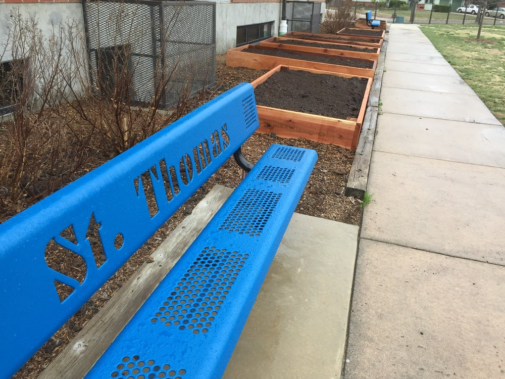We installed nine garden beds at St. Thomas Aquinas Catholic School so kids can learn the science of cultivating food and the healthy benefits of eating organic vegetables.